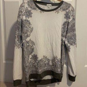 PJ salvage sweater with paisley design